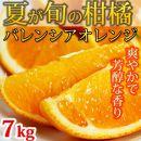 ■【ご家庭用】希少な国産バレンシアオレンジ7kg[2020年7月発送]