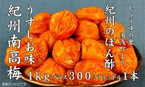 ■南高梅うすしお味1kgとぽんず1本[M1032-C]