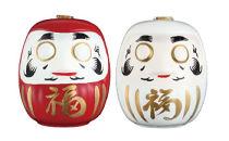 千駒清酒縁起物白河だるま酒(赤・白)500ml×2