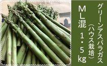 グリーンアスパラガス(ハウス栽培)ML混1.5Kg
