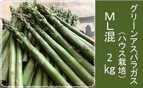 グリーンアスパラガス(ハウス栽培)ML混2Kg