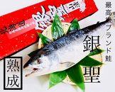 【熟成】ブランド鮭「銀聖」山漬け1尾(姿)
