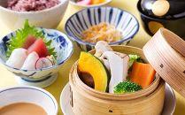 【セレオ9F百干・体験型現地でお礼】国分寺野菜のセイロ蒸しご膳+ドリンク1杯を2名