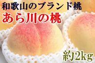 ■【産直】和歌山のブランド桃「あら川の桃」約2kg・秀選品