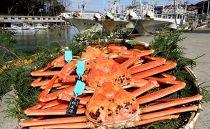 【石川県産】産加能かに(ずわい蟹)生重量500g×3匹
