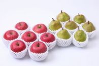 AP17 どちらも食べたい!「山形県産リンゴとラ・フランス詰め合わせセット5k」