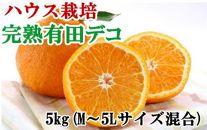 ■【ハウス栽培】完熟有田デコ(不知火)約5kg(M~5Lサイズ混合)[2021年3月~発送]【数量限定】
