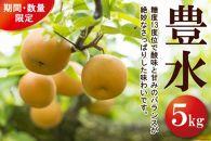 【期間・数量限定】豊水梨Lサイズ以上(約5kg)