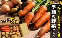 季節の野菜【じゃが・玉ねぎ・人参】セット【雲仙の畑よりお届けします】冬限定品5kg