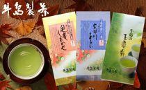 【ギフト用】八女深蒸し茶 詰合せ100g×3本 上級煎茶(ギフト対応)