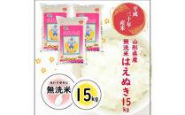 平成30年産米無洗米はえぬき15kgTO<東北食糧>