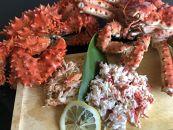 【数量限定】<オホーツク産>2大蟹の完全剥き身セット(網走加工)