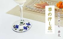 花の町東神楽町から<押し花ワイングラスセット青A>(夢花)