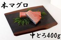 長崎県産養殖本まぐろ(中トロ)400g