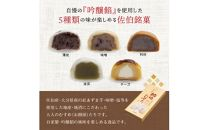 佐伯銘菓『佐伯むすめ』薄皮・味噌・利休・抹茶・チーズ 5種詰合せ(10個入340g)