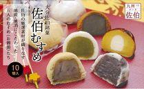 佐伯銘菓『佐伯むすめ』薄皮・味噌・利休・抹茶・チーズ5種詰合せ(30個入1050g)
