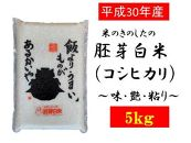 <受付は6/30まで>30年産米のきのしたの胚芽白米(コシヒカリ)~味・艶・粘り~ 5kg