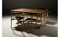 角テーブルとchair2009 ダイニングセット〈製作:大門嚴〉【10400001】