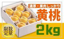 BP008 先行予約♪山形黄金色の桃♪黄桃秀品2kg【2021年8月下旬~9月下旬発送】
