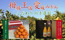 ※受付終了※柑橘王国愛媛産温州みかん【早生】3kg+みかんジュース2本