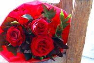 BM190ロータスガーデンの美しきバラのギフト「情熱の赤いバラの花束」