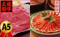 土佐和牛特選クラシタロース&美鮮豚ロース1kgセット牛肉豚肉すきやきしゃぶしゃぶ