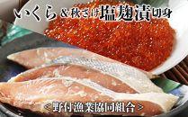 いくら&秋さけ塩麹漬切身<野付漁業協同組合>