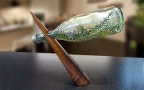「京銘竹ボトルスタンド漆 拭き漆」京都の竹垣職人ハンドメイド
