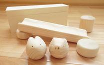 【九州産の木のおもちゃ】コロガルアニマルレールセット