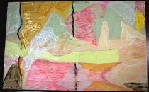 アクリル・油彩画「破片」158×227mm