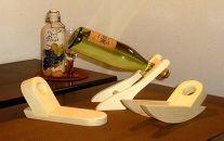 【木工品】木造りワインホルダーセット