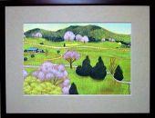 あなたの好きな『桜井市』を描きます!(テンペラ画A4額付)