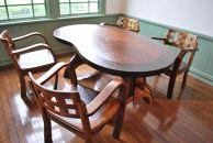 漆塗り触れ合い豆型テーブル(大)