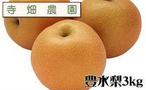 自然豊かな山陰からおいしい豊水梨をお届け!3kg(DK103SM)