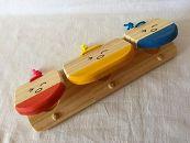 【ギフト用】木のおもちゃ「コロポコ積木パズル(スペシャル)&三連カスタくん&脳活ディスクパズル(6枚)&スライドパズル&たまごキャッチくん」5点セット
