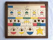【ギフト用】木のおもちゃ「コロポコ積木パズル(スペシャル)&昇りワンニャン&脳活ディスクパズル(6枚)」3点セット