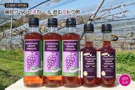 ☆健康増進☆ 黒ぶどう(藤稔)で作り上げた、体にやさしい醸造酢5本セット
