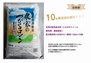 【定期便10ヶ月】乾式無洗米つがるロマン10kg(精米)×10回