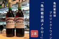 【ギフト用】亀岡葡萄畑プロジェクト・ワイン「亀岡葡萄酒・メルロー」2本セット