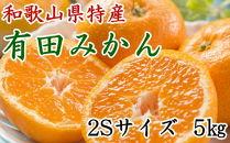 [厳選]紀州有田みかん5kg(2Sサイズ・赤秀品)