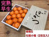 【完熟早生・有田みかん】化粧小箱『特秀』Sサイズ28玉入