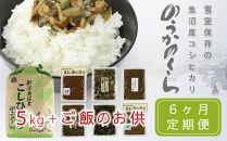 【定期便】魚沼産コシヒカリ「のうかのくら」5kgと毎月変わる地元特産ご飯のお供セット【令和元年米・6ヶ月連続お届け】