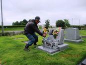 大泉町公園墓地の清掃