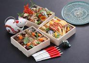 古串屋謹製おせち白木三段重天然トラフグ刺身(27cm皿)セット