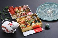 古串屋謹製おせち和洋二段重養殖トラフグ刺身(34cm皿)セット