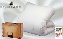 【シングルサイズ】イズミファブリックス使用 羽毛布団 マザーグースダウン95% CILプラチナラベル