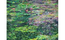 風景、花、植物などをアクリル絵の具で描く絵画作品/50号