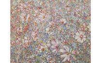 風景、花、植物などをアクリル絵の具で描く絵画作品/80号