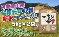 新米!抜群の味と香り 丹波篠山産コシヒカリ5kg×2