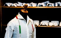 ホームページから注文ができる「金沢・金港堂」フルオーダーシャツ。